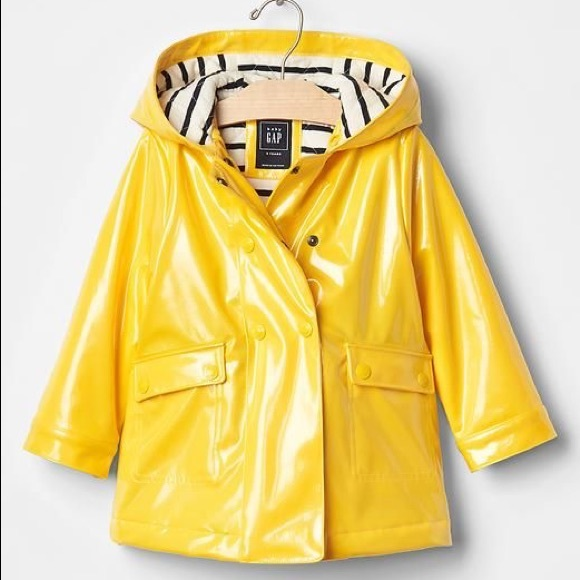 best collection best loved rational construction Gap Kids Yellow Raincoat